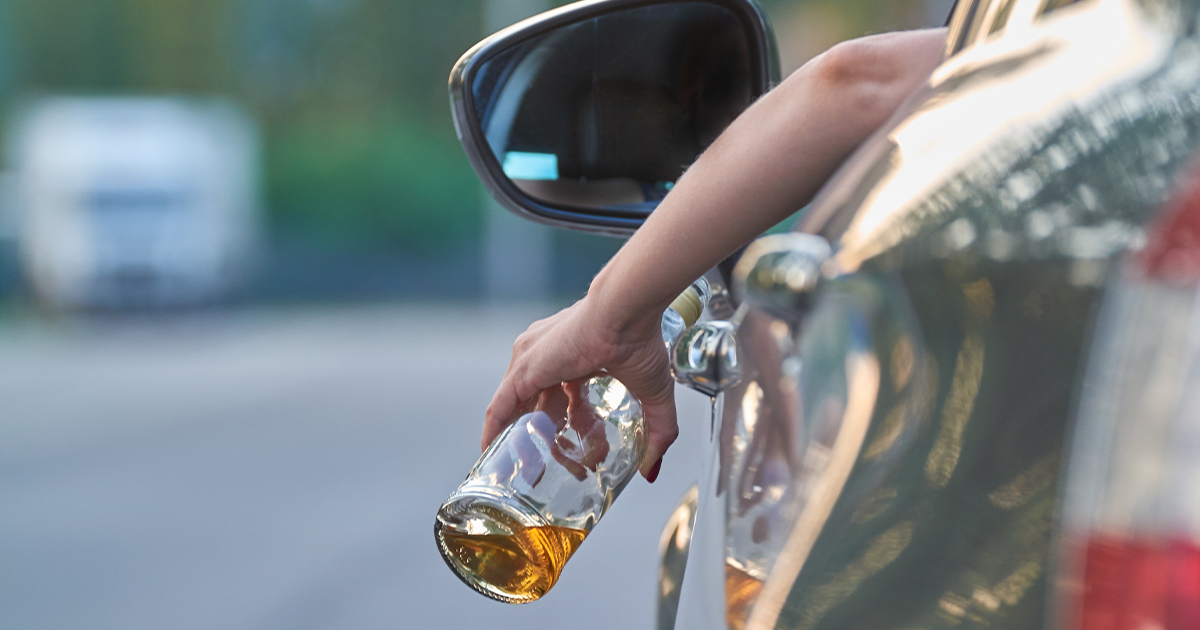 Drunk driver in vehicle